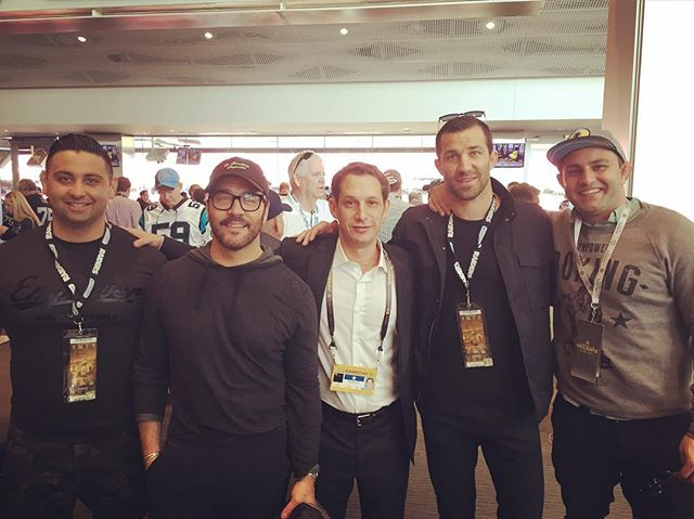 The A team @empowersanfrancisco at the Super Bowl with the chairman himself @daniellurie1 @tareq.azim @lukerockhold @yoyo584 @jeremypiven