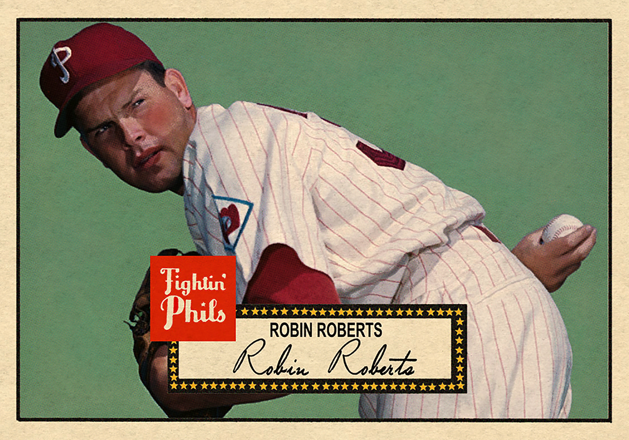 1952 BASEBALL STARS SERIES #186 ROBIN ROBERTS 2/20/17 Auction closes at $150.50 USD - Current Population of 2