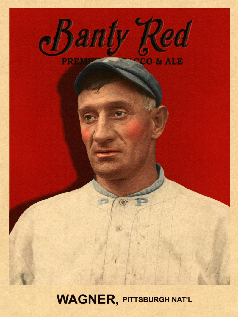 1915 BANTY RED LEAF POUCH INSERTS #25 HONUS WAGNER 2/13/17 Auction Closes at 94.00 USD - Current Population of 2