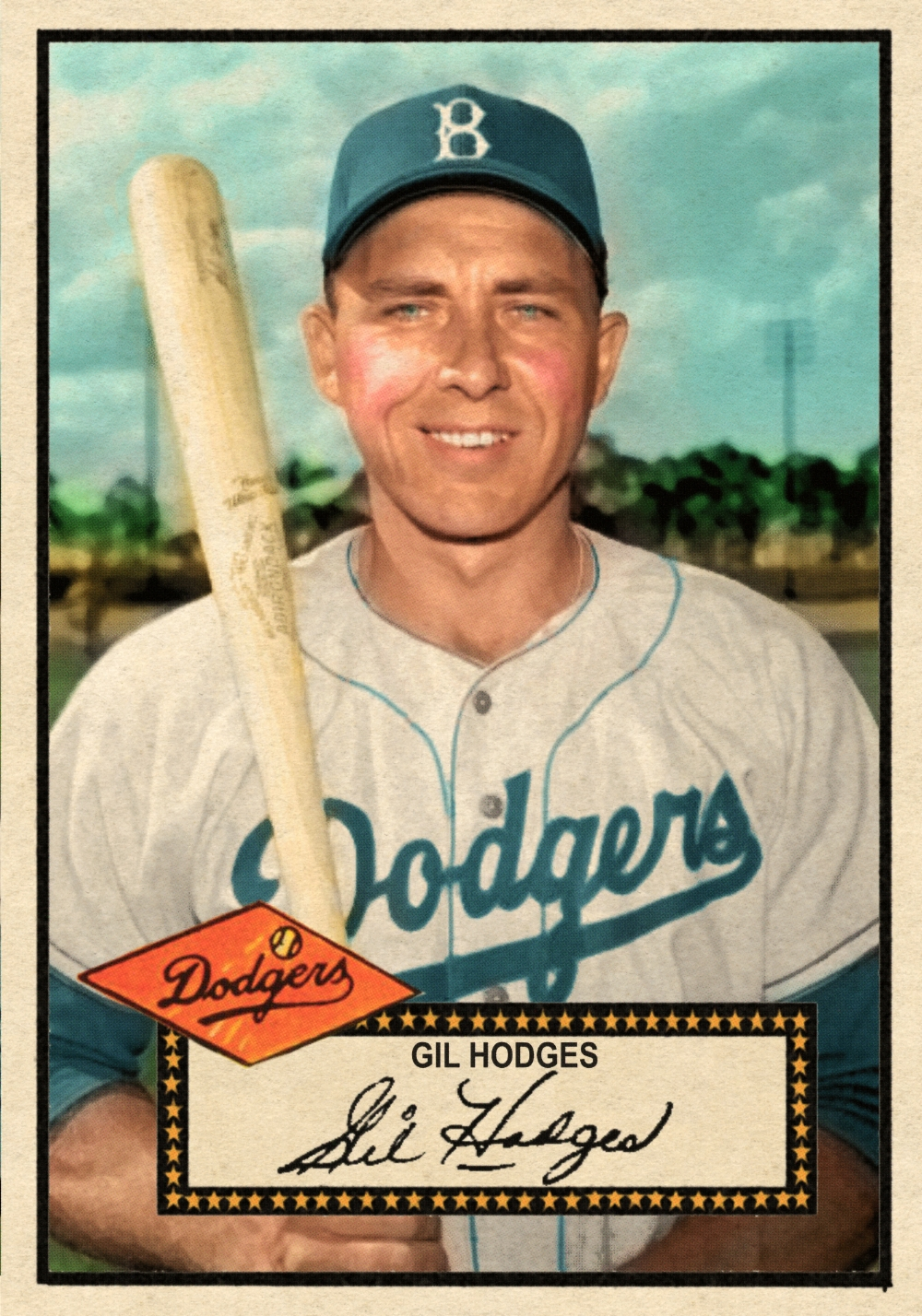 1952 BANTY RED BASEBALL STARS SERIES #7 GIL HODGES - 04/10/17 Auction Closes at 156.35 USD - Current Population of 4