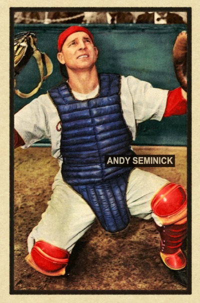 1951 BANTY RED BASEBALL STARS SERIES #102 ANDY SEMINICK 11/6/17 aUCTION cLOSES AT 114.50 USD - Current Population of 2