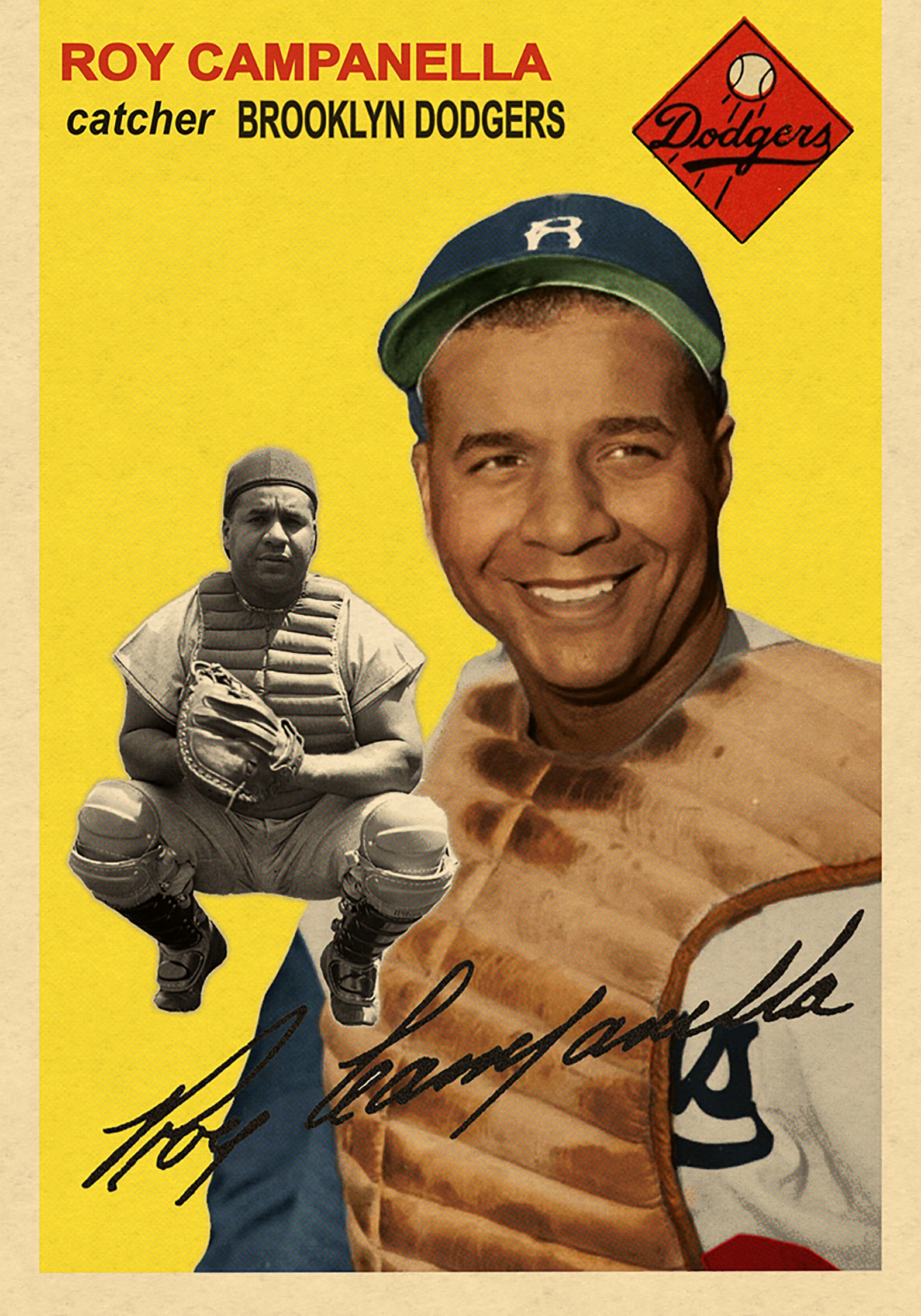 1954 LOST IN THE 50's- ROY CAMPANELLA 4/2/18 Auction Closes at $202.50 USD - Current Population of 1