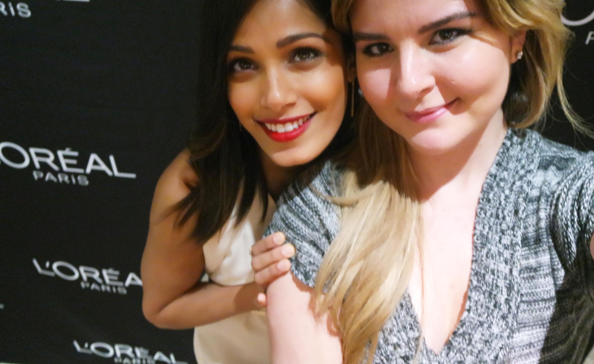SELFIE! With actress Freida Pinto