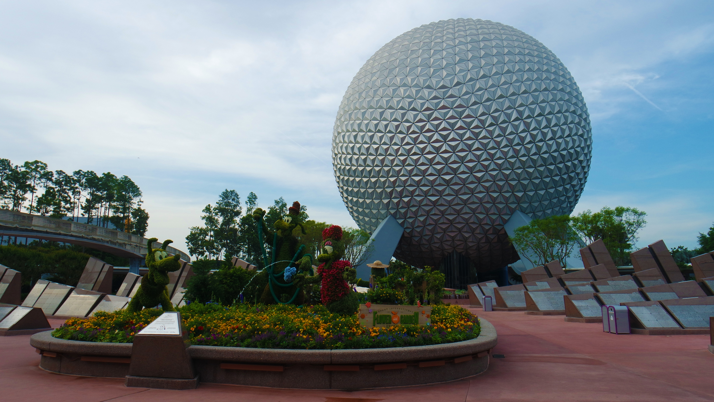 The first thing you see walking into Epcot