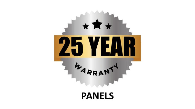 25 Year Panels Warranty Badge