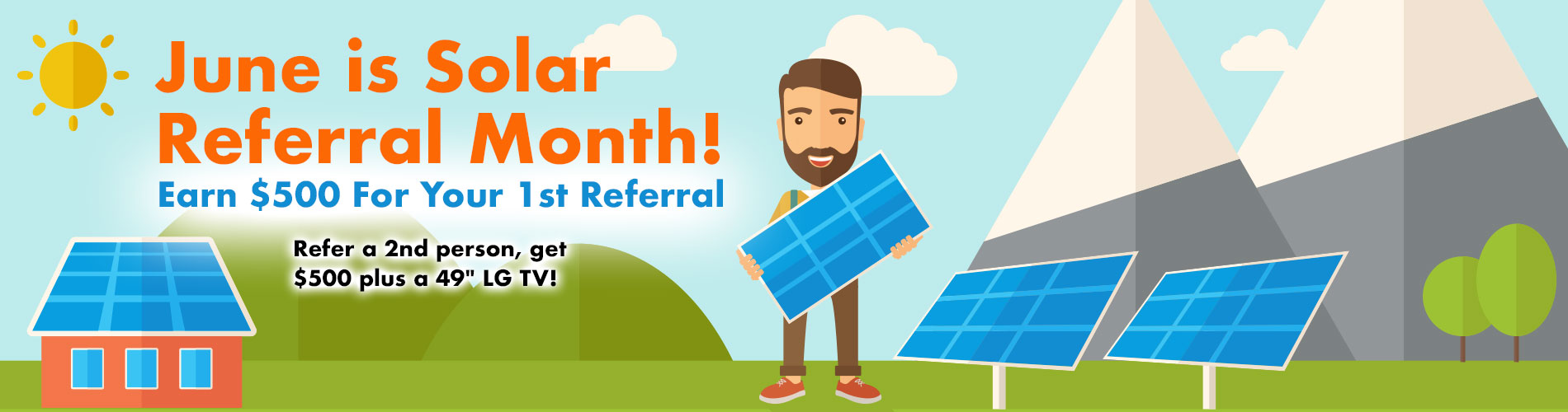June Solar Referral Month Campaign Banner