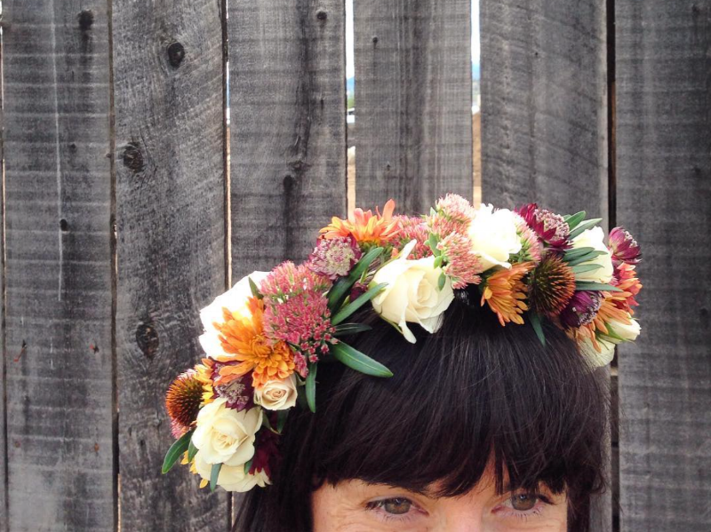 Fall flower crown-doesn't this make you wish you had bangs?!