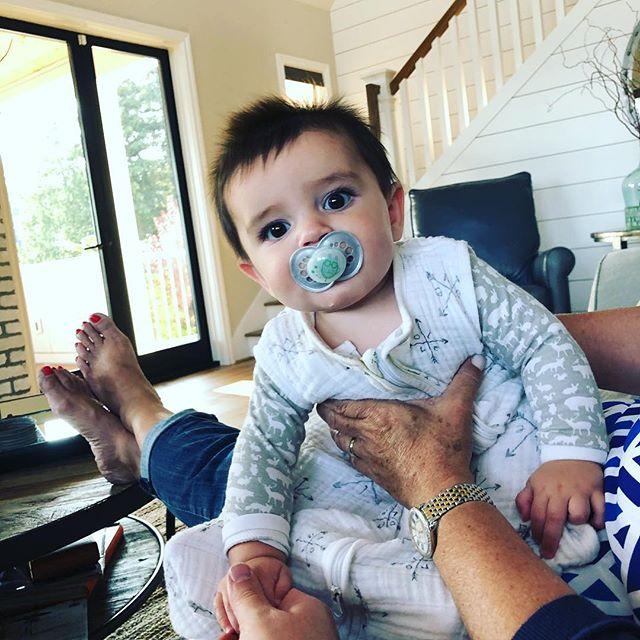 Hanging with my guy Gavin • my 10th nephew/niece