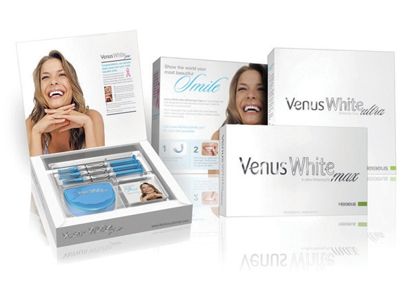 Our office uses venus white teeth whitening products for both take-home and in-office teeth whitening