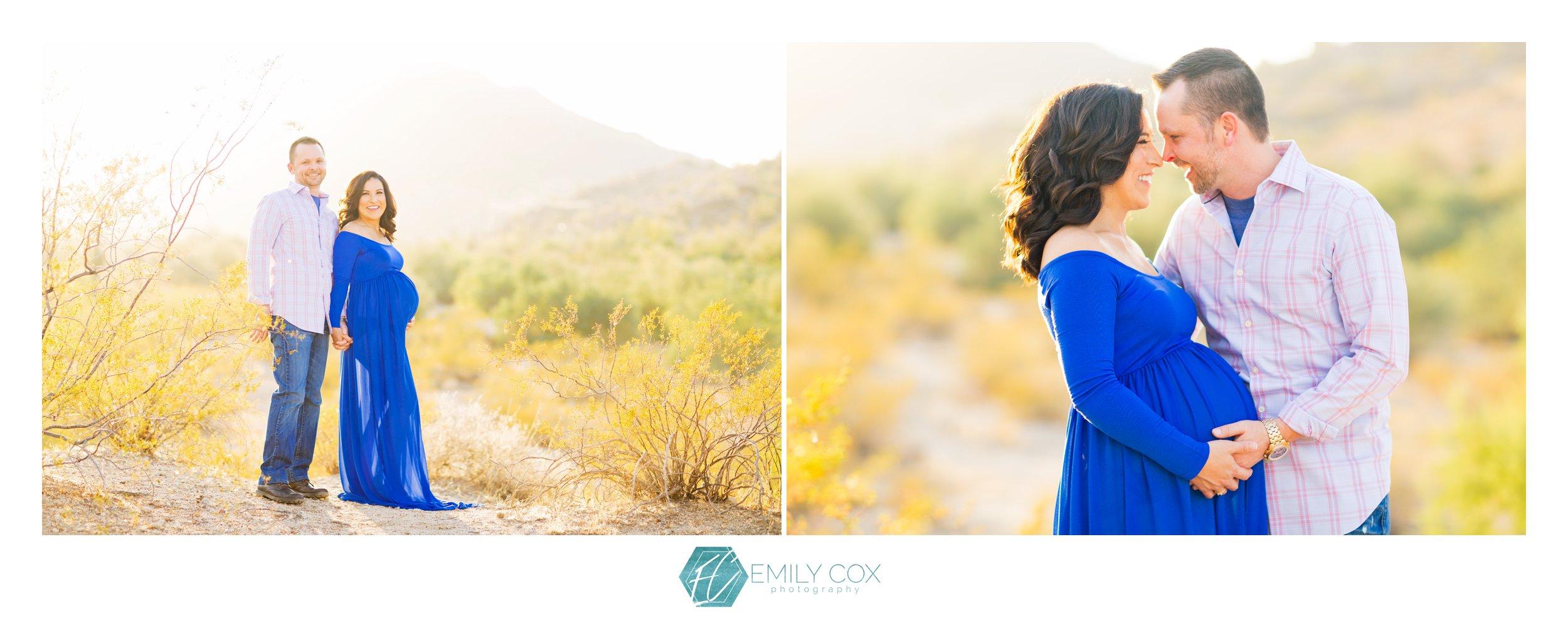 Desert inspired maternity photos