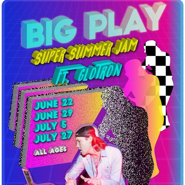 Super summer jam at @bigplaylive with @vjindivid Super stoked to be back with my pup. Thx for the sick flier!