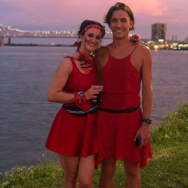 Red dress run 2019 was pure stoke!  I never heard the announcement for the start of the race so I started at 45 minutes in.  I finished after a looong detour on bourbon at the cats meow. Psyched I got to do some hashing in New Orleans! Just Phil will be back next year! Down down on on!