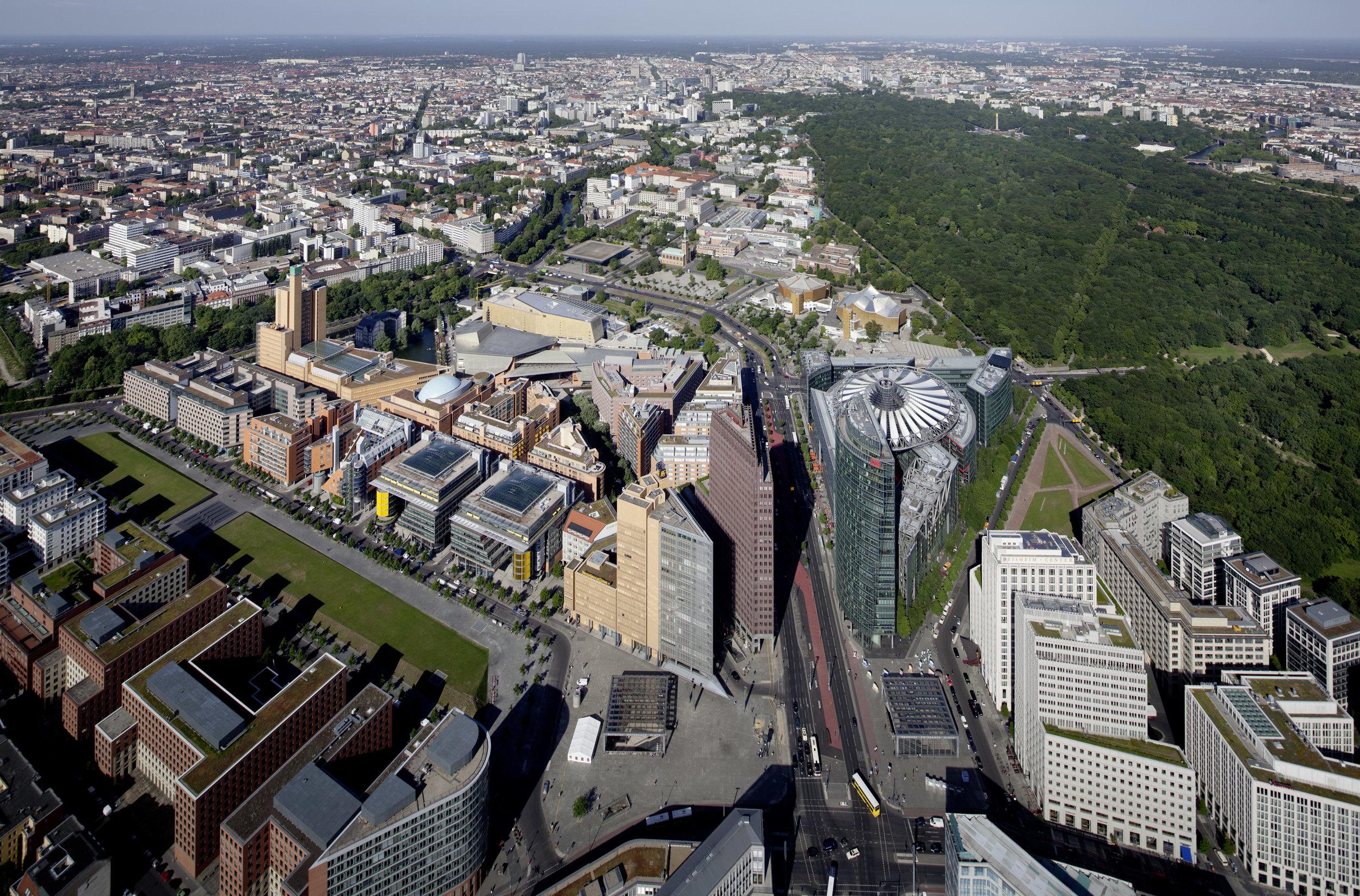 Master Plan Aerial View   Potsdamer Platz