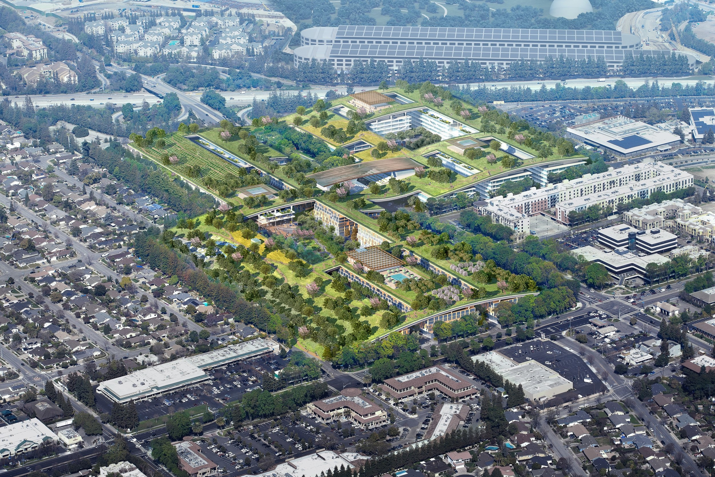 Master Plan Aerial View  | The Hills at Vallco