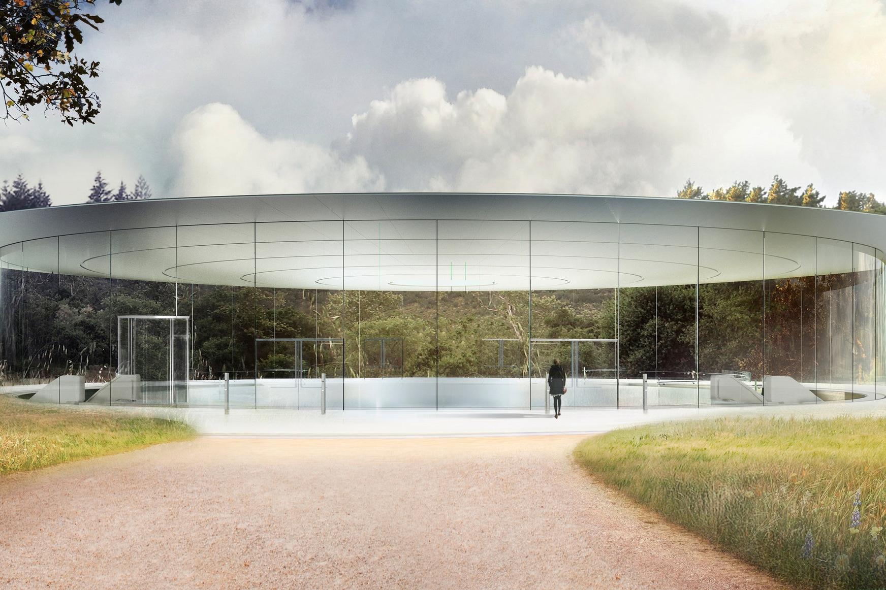 Steve Jobs Theater Entrance Park View | Apple Park