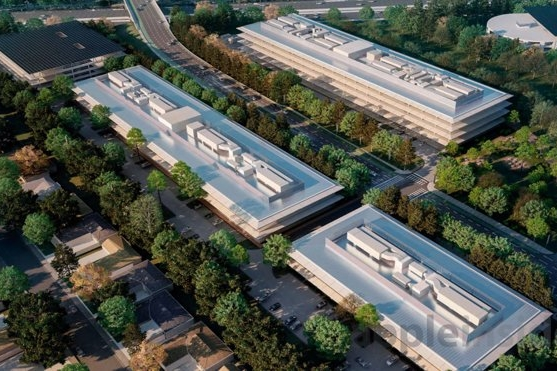 Research + Development Buildings Aerial View | Apple Park
