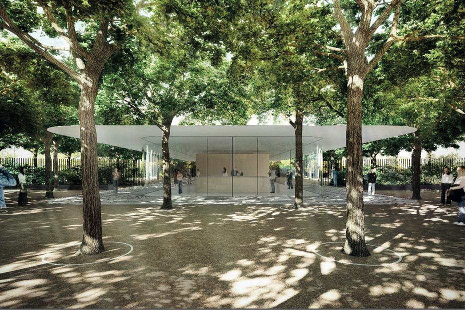 Visitor Entrance Street View | Apple Park