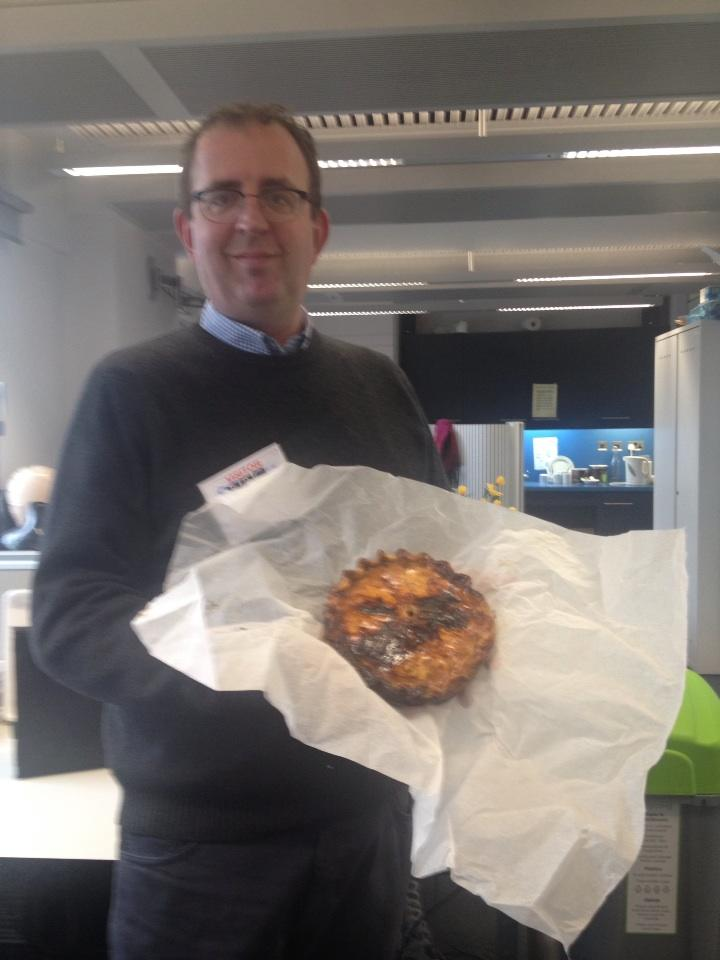 The UKs favourite Rev'd Richard Coles and one of our pork pies
