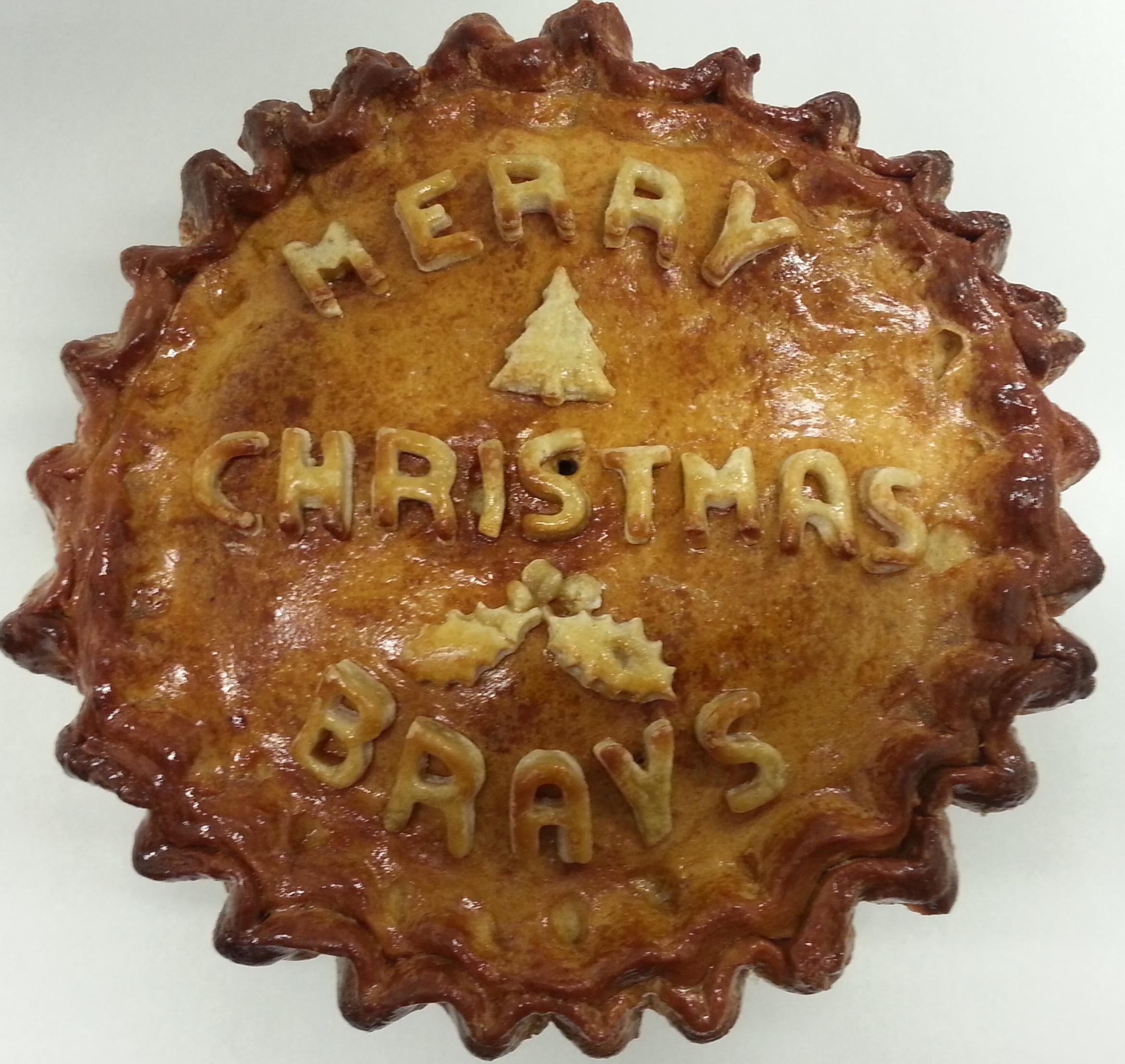 Merry Christmas Celebration Pork Pie