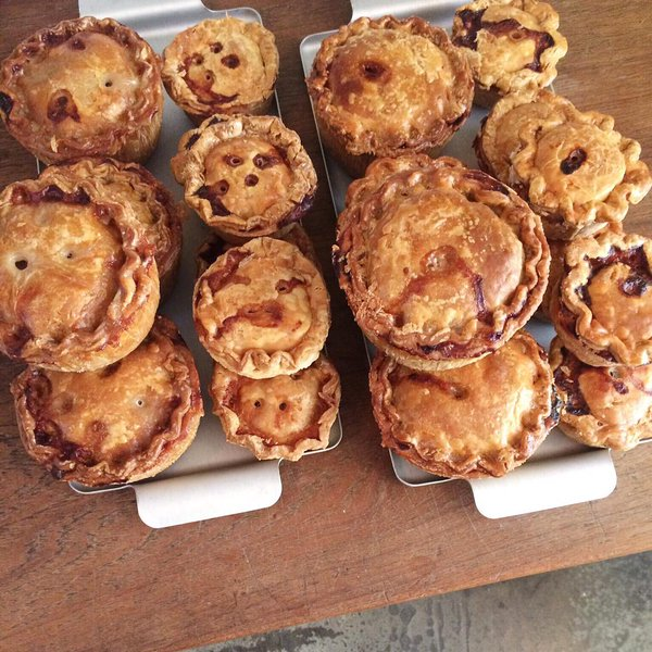 Our pork pies in General Store, Peckham