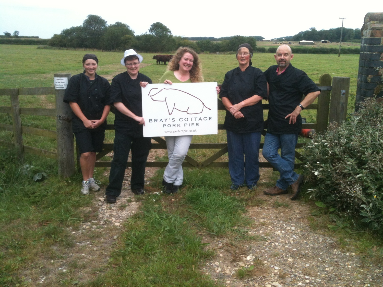 The Brays Cottage Pork Pie team in the fields of North Norfolk