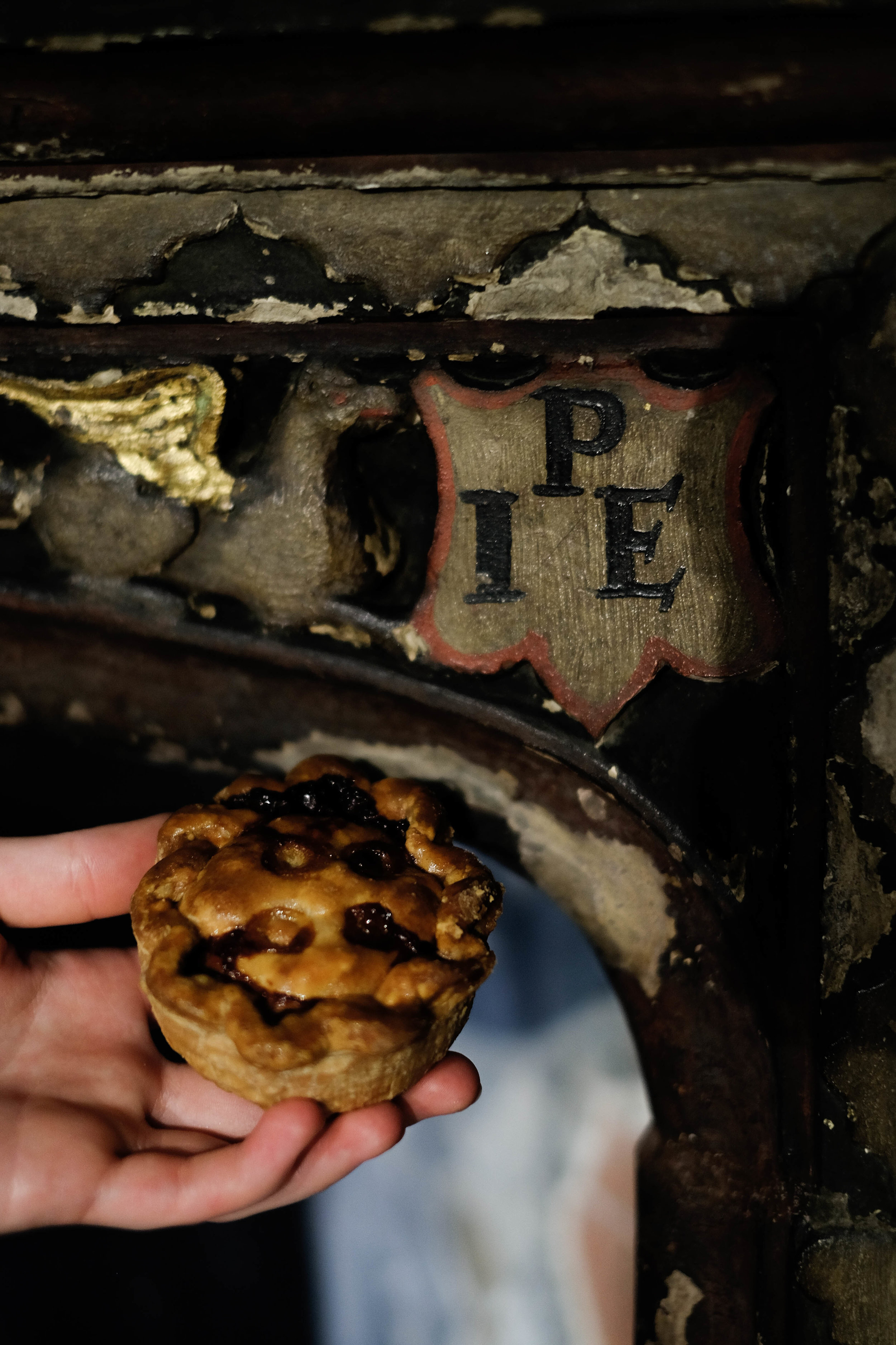 P.I.E. and pie in Stranger's Hall