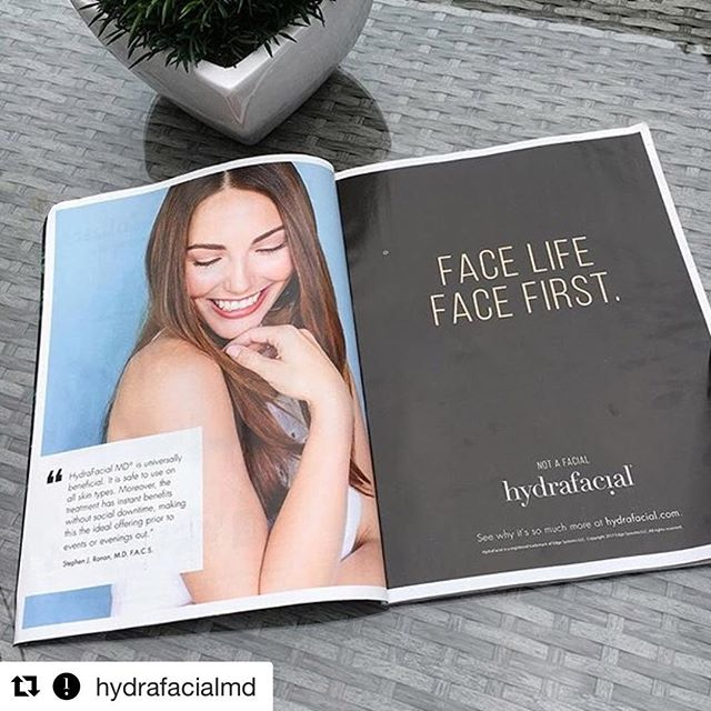 This is so cool! Book a HydraFacial at any luxury spa 💆🏻 #Repost @hydrafacialmd ・・・The new face of #HydraFacial spotted by @3000bcspa in this month's issue of @americanspamag! 👀👏 #americanspa #designedincalifornia #HydraFacialMD #americanspamag