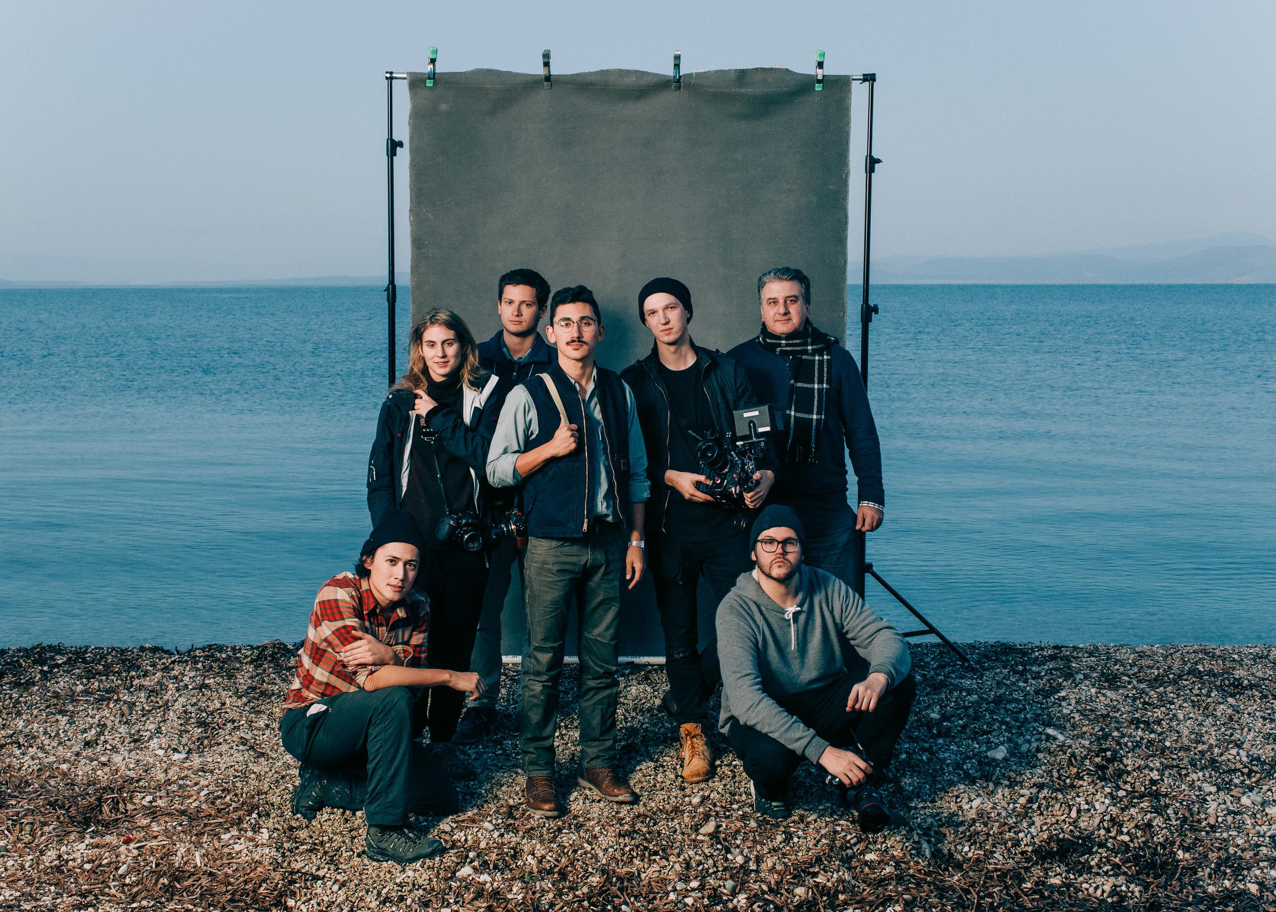 The Refuge Team. From Left: Elliot Ross, Rosanna Bach, Matteo Zevi, Matthew K. Firpo, Jake Saner, Haris Katsigiannis, Stephen Michael Simon. Not Pictured: Maximilian Guen