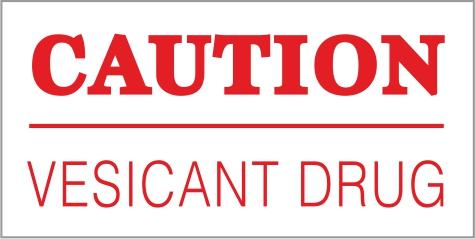 Caution Drug Labels