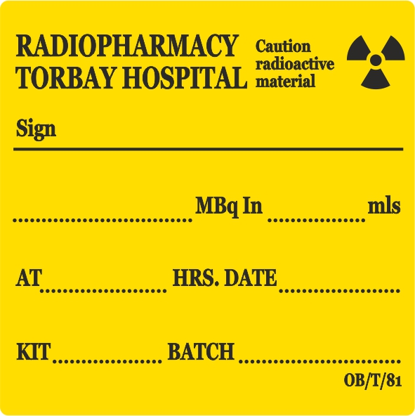 Radiopharmacy Labels