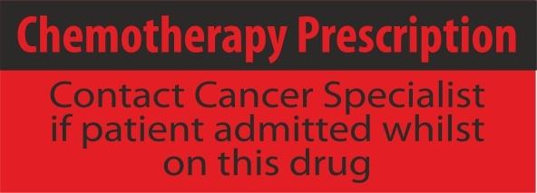 Chemotherapy Presciption Labels