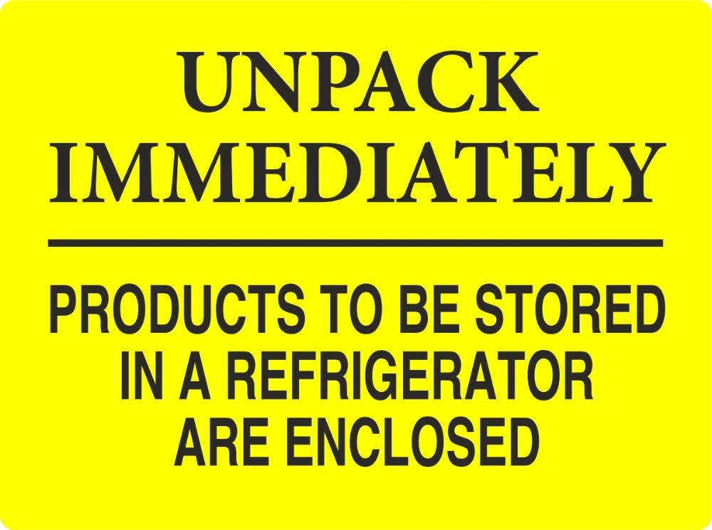Unpack Immediately Labels
