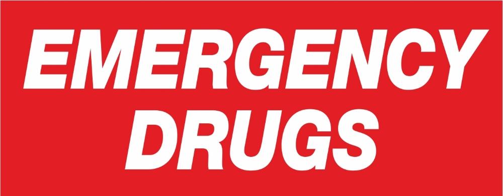 Emergency Drugs Labels