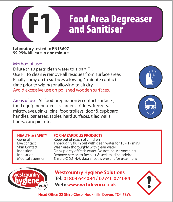 West Country Hygiene Labels