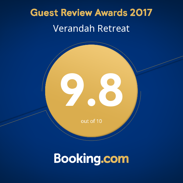 5 star accommodation award booking.com 9.8
