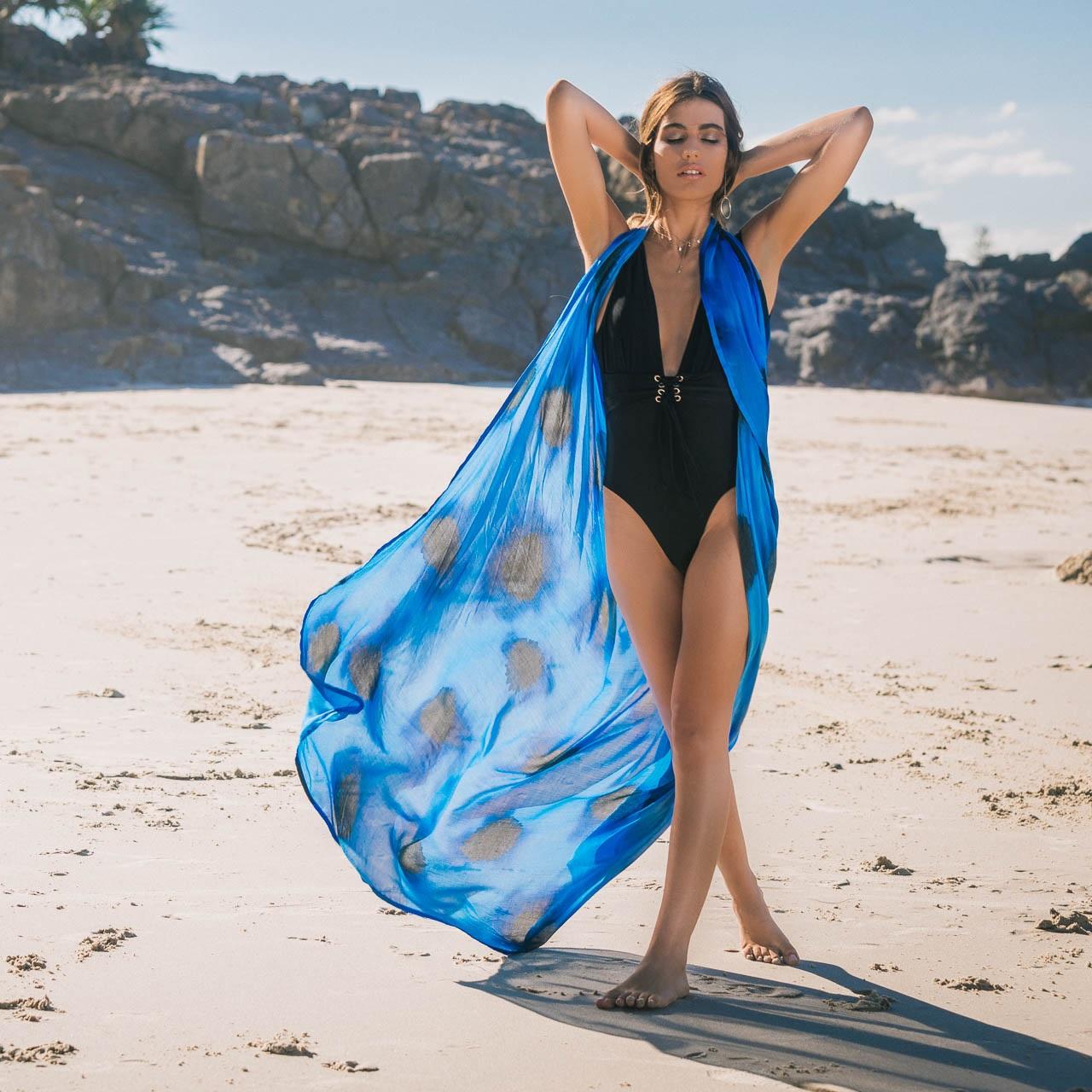 'The Bec' scarf, sarong ($230) Robe