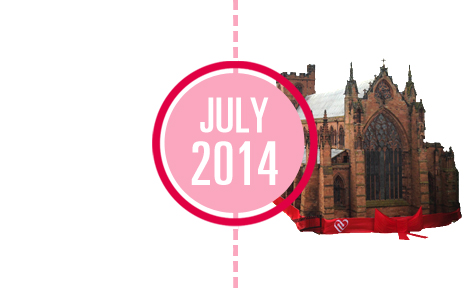 World's 1st giftwrapped cathedral, in Carlisle,for  flesh and blood