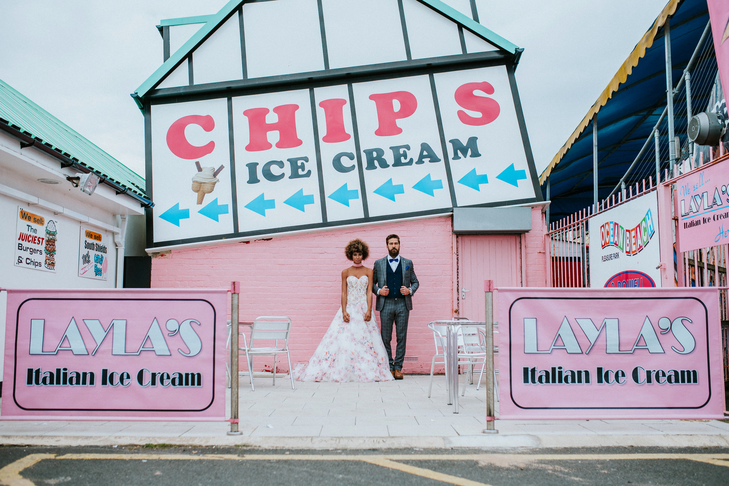 Love At The Fairground Bridal Shoot
