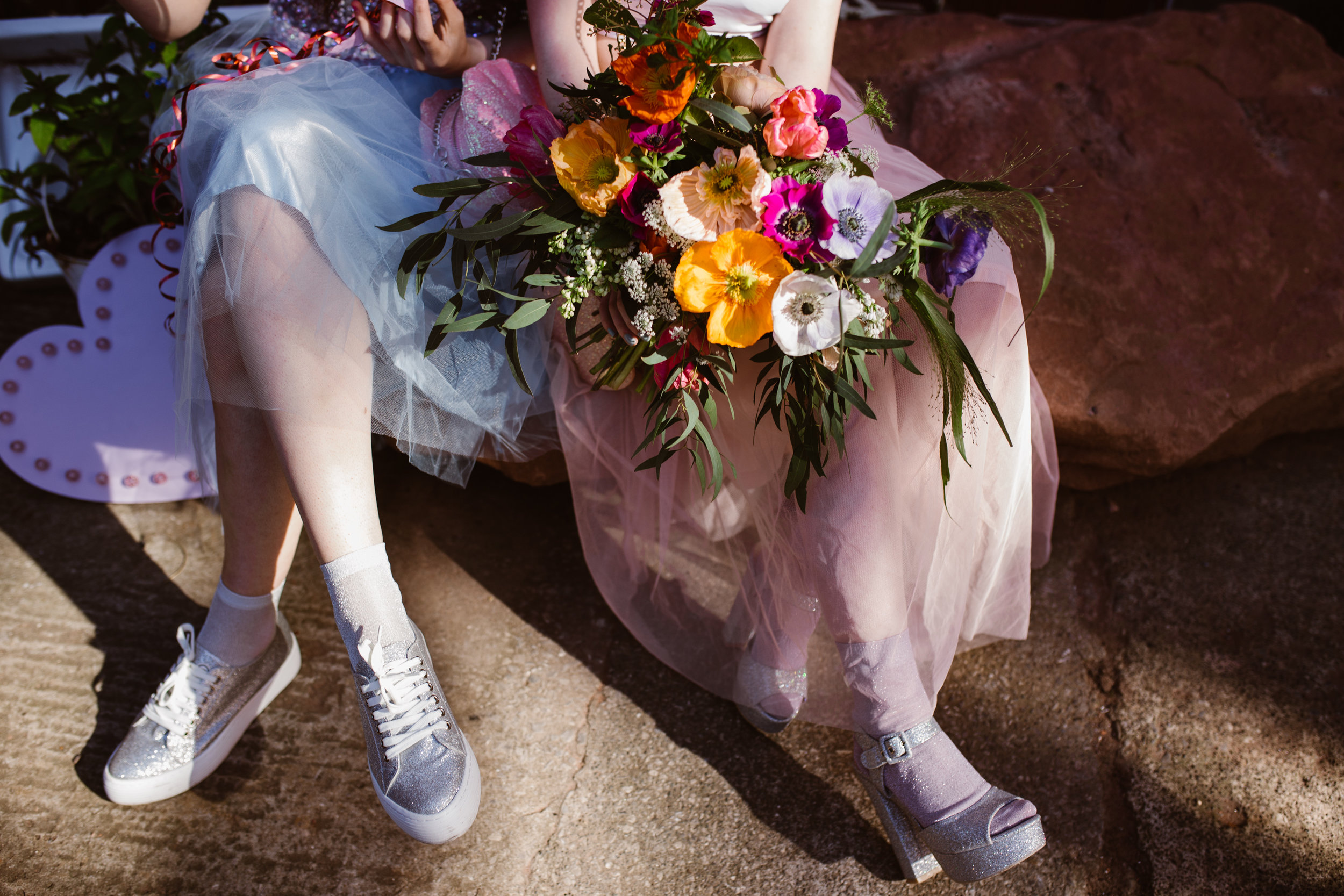 A Pink Gin And Glitter Inspired Shoot For The Alternative Bride