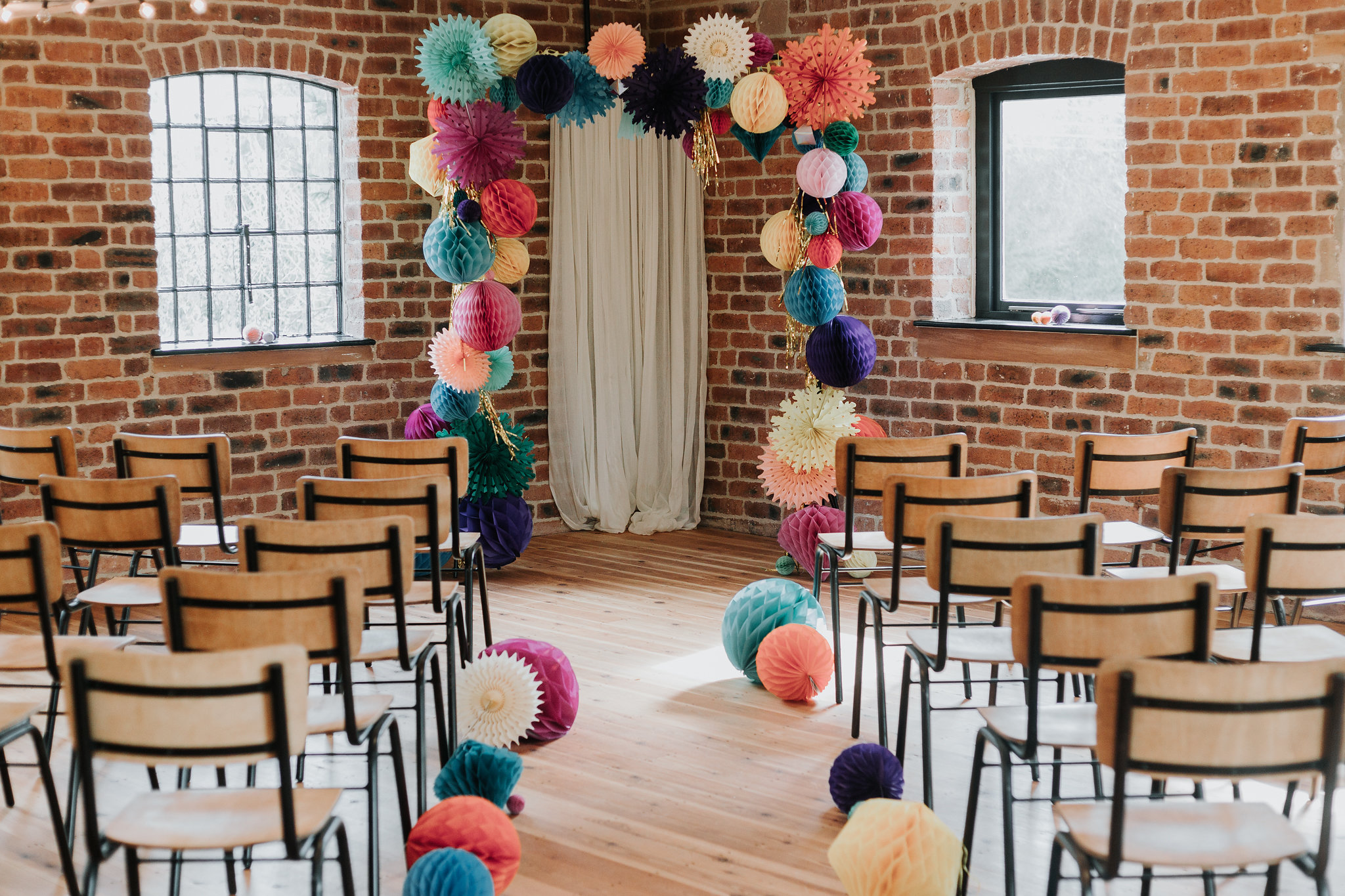 A colourful styled shoot in Haarlem Mill, Derbyshire