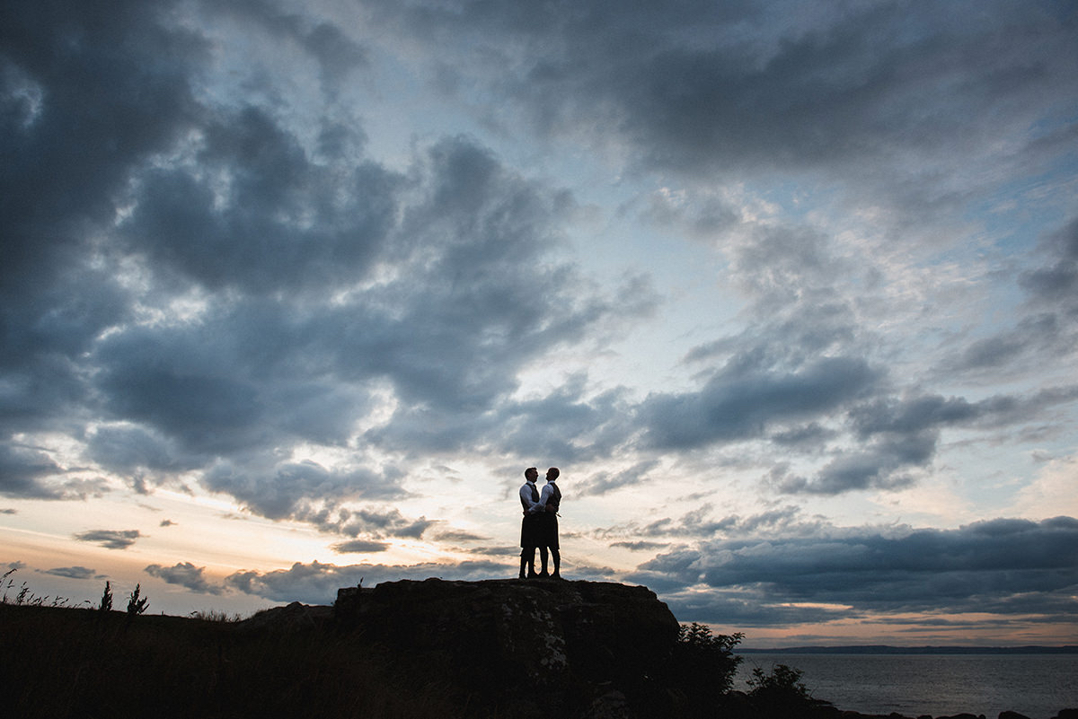 Scottish wedding and elopement photography by Elemental.