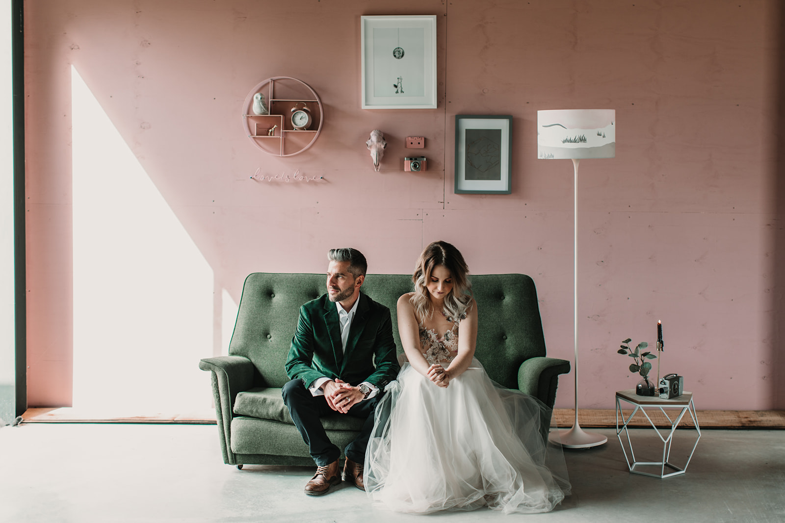 Stunning Pink And Green Wedding Inspiration At The Giraffe Shed