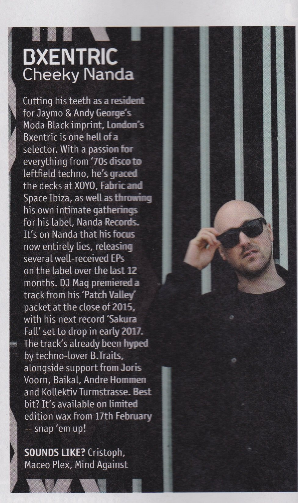 helping to shape artists careers - bxcentric cheeky bubblers feature in DJ Mag