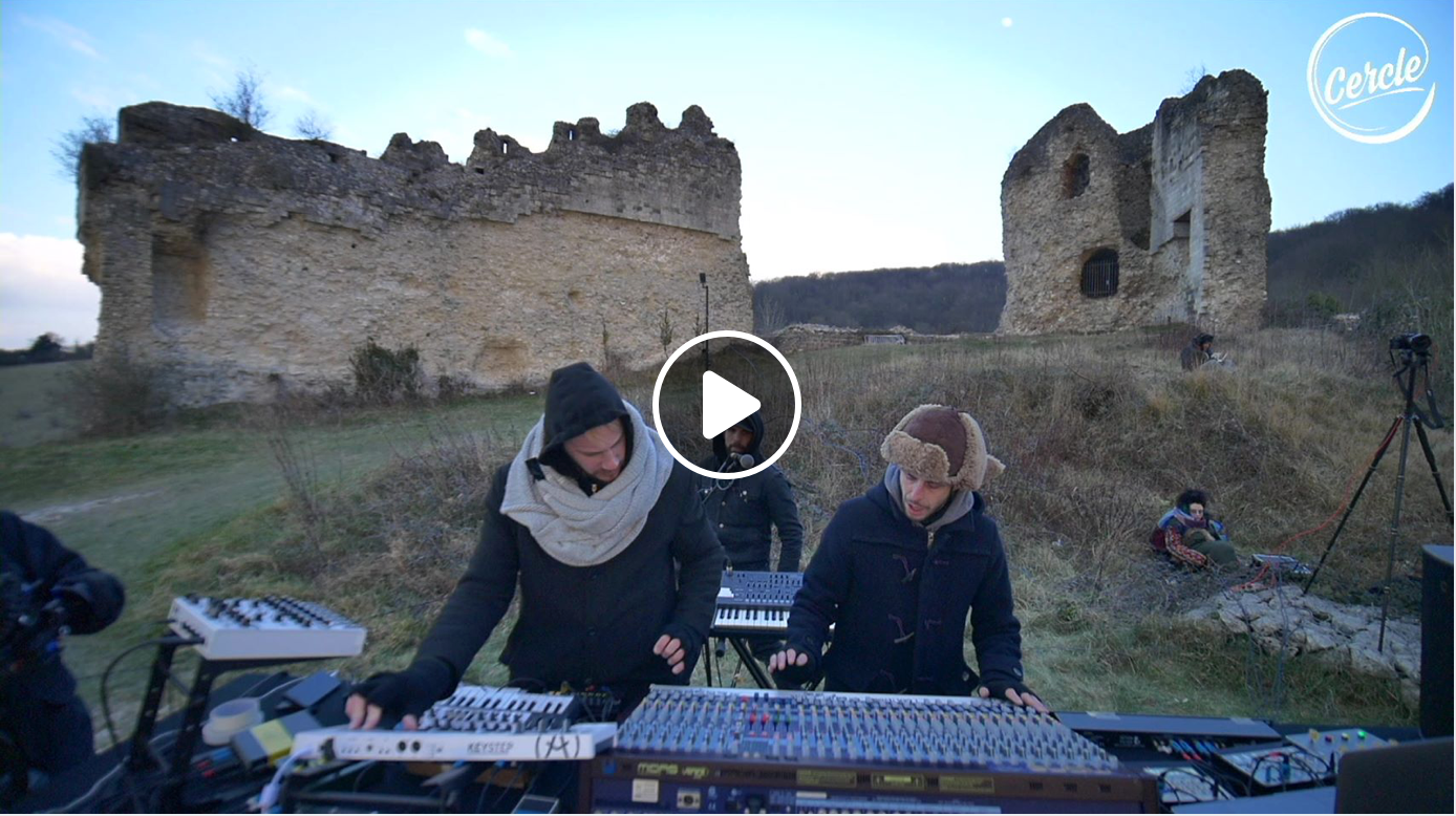 artist live streams and mixes - dop x cercle live stream at chateau gaillard - normandy, france (520k streams and counting)