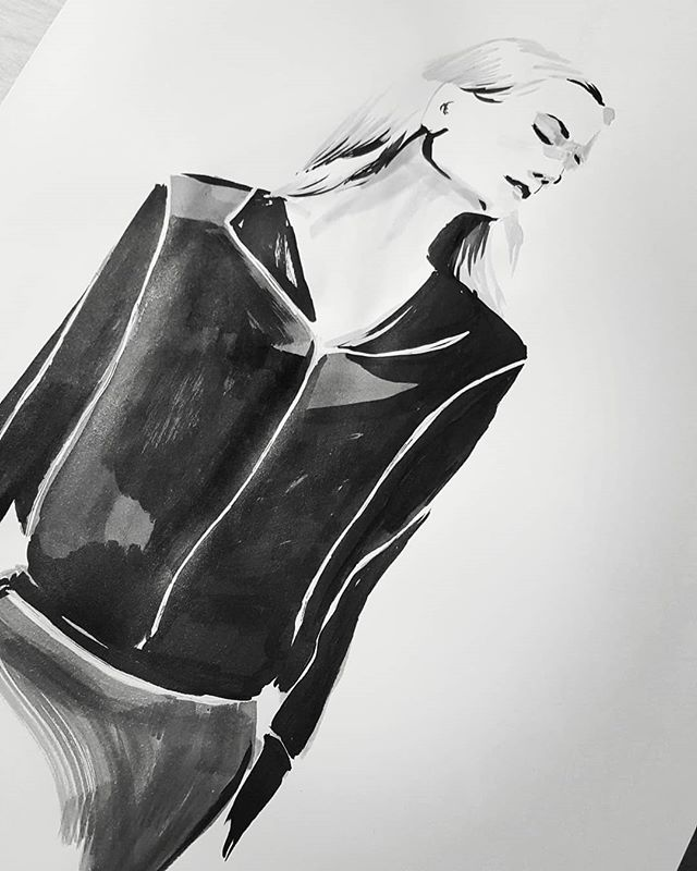 Here is another! #inktober22 #jasonwu #inktober2018 #inktober #fashionillustration #progressnotperfection #catchingup #fashion #20min