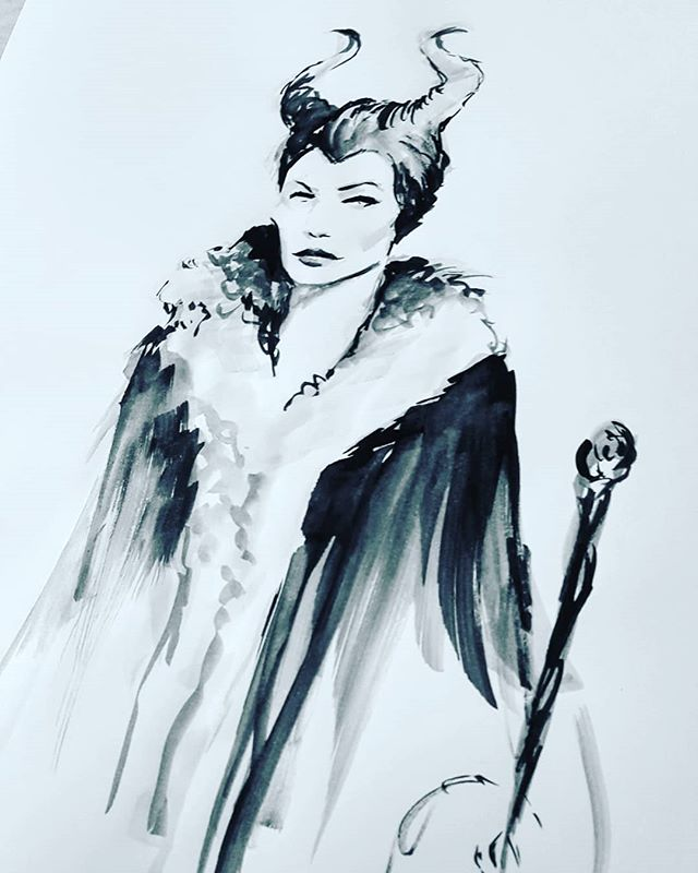 Happy Halloween everyone! 🦇🕸🕷🎃👻 Here is my last and final #inktober and what better way to end it than with my favorite #villain #maleficent  I can honestly say I've completed an inktober challenge now! Was close last year and was determined to get it this year. Really enjoyed the fashion illustration style and I really think having a 30 min timer helped a lot. I know I sped up my process cause there were a few times I was done before the 20 min mark. Hope everyone has a great day!! #halloween #🎃 #villain #disneyvillain #maleficent #disney #inktober31 #inktober2018 #ink #fashionillustration #finished #progressnotperfection #artistsoninstagram