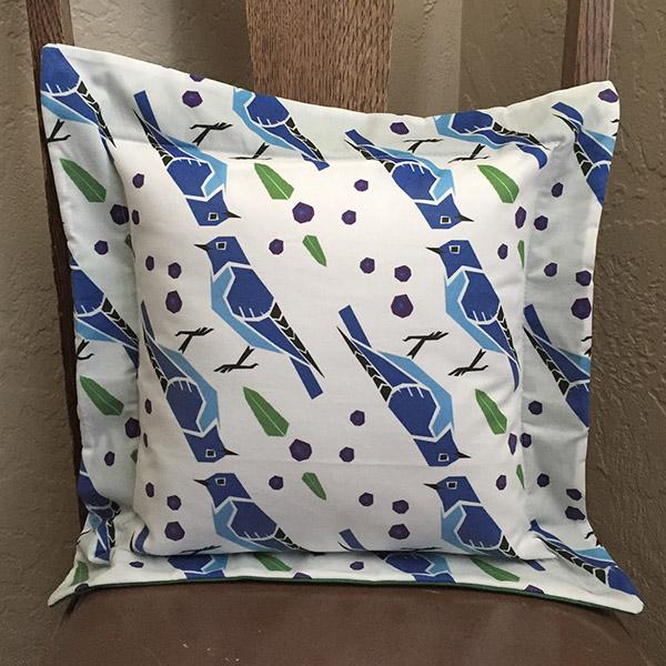 Mountain Bluebirds Pillow