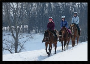 YES,YOU CAN HORSEBACK RIDE IN THE SNOW!