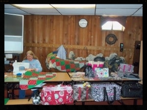 THERE ARE BEAUTIFUL QUILTS, CARDS, JEWELRY, AND SCRAPBOOKS MADE THIS WEEKEND.