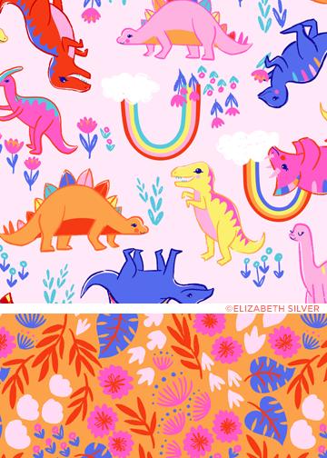©Elizabeth Silver Rainbowsaurus